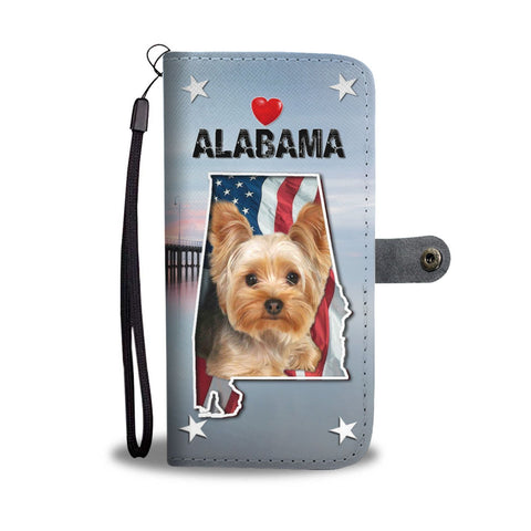 Cute Yorkshire Terrier Print Wallet Case-Free Shipping-AL State