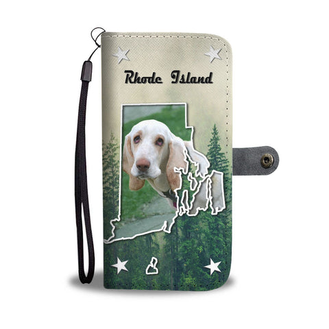 Cute Basset Hound Print Wallet Case-Free Shipping-RI State
