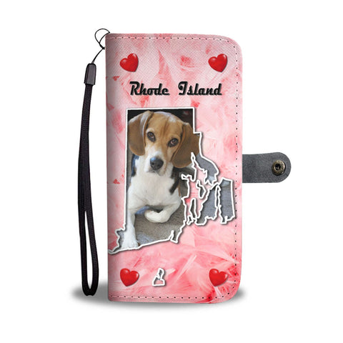 Lovely Beagle Dog Print Wallet Case-Free Shipping-RI State