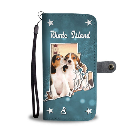 Cute Beagle Dog Print Wallet Case-Free Shipping-RI State