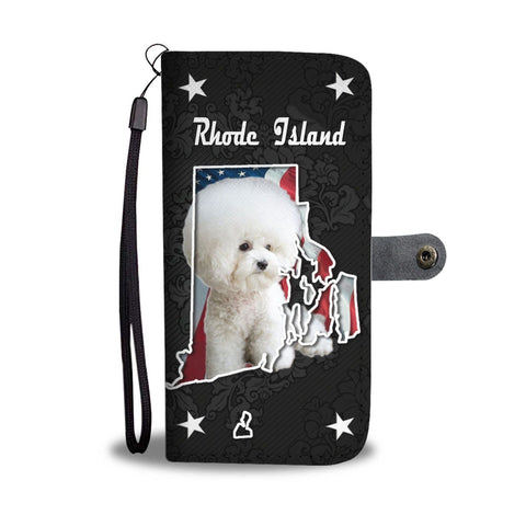 Bichon Frise On Black Print Wallet Case-Free Shipping-RI State