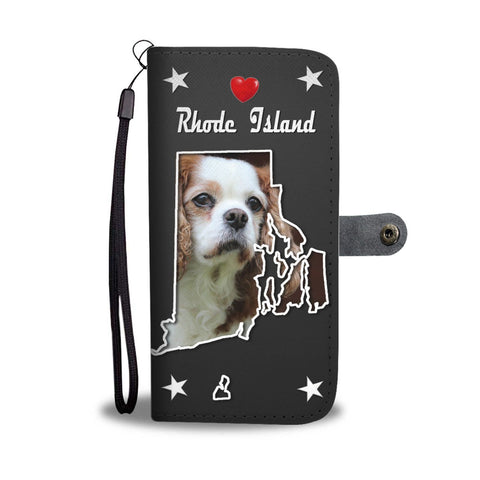 Cavalier King Charles Spaniel Print Wallet Case-Free Shipping-RI State