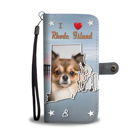 Cute Chihuahua Print Wallet Case-Free Shipping-RI State