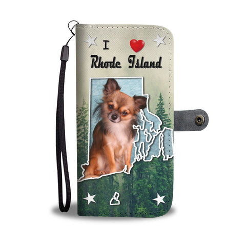 Lovely Chihuahua Print Wallet Case-Free Shipping-RI State