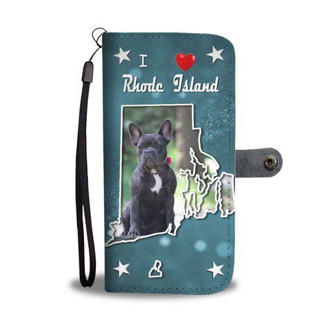 French Bulldog Print Wallet Case-Free Shipping-RI State