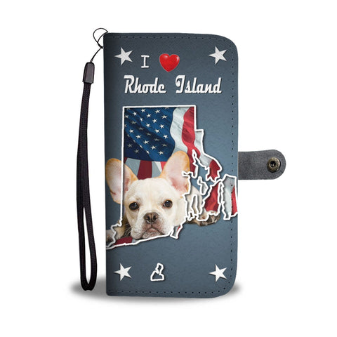 Lovely French Bulldog Print Wallet Case-Free Shipping-RI State