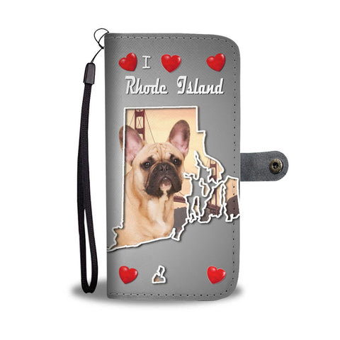 Cute French Bulldog Print Wallet Case-Free Shipping-RI State