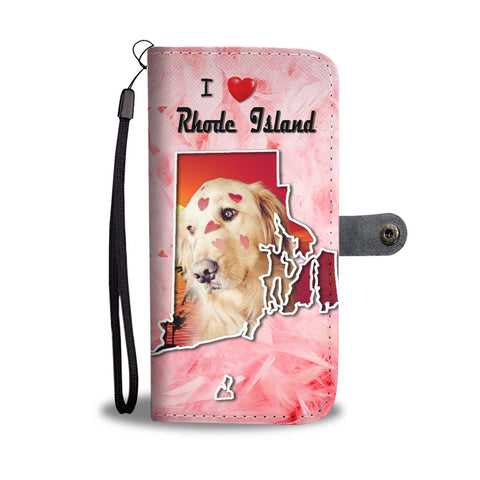Golden Retriever Print Wallet Case-Free Shipping-RI States