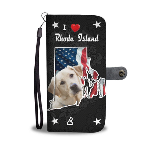 Cute Labrador Retriever Print Wallet Case-Free Shipping-RI State