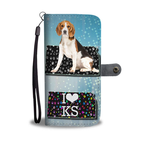 Beagle On Paws Print Wallet Case-Free Shipping-KS State