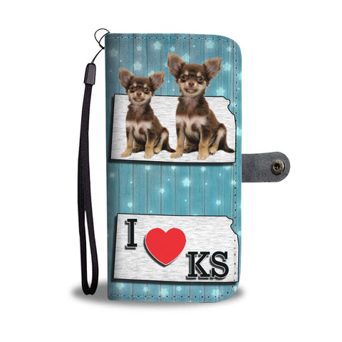 Cute Chihuahua Print Wallet Case-Free Shipping-KS State
