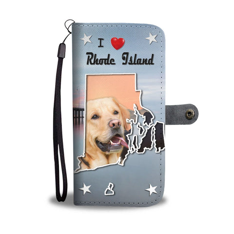 Lovely Labrador Retriever Print Wallet Case-Free Shipping-RI State