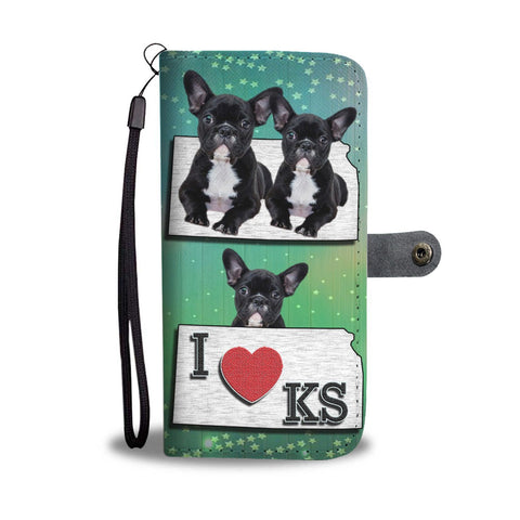 Lovely French Bulldog Print Wallet Case-Free Shipping-KS State