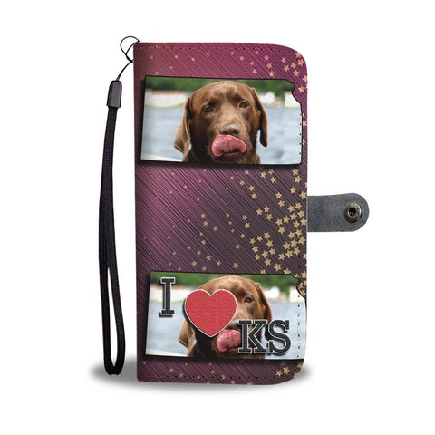 Labrador Retriever Print Wallet Case-Free Shipping-KS State