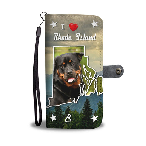 Rottweiler Dog Print Wallet Case-Free Shipping-RI States