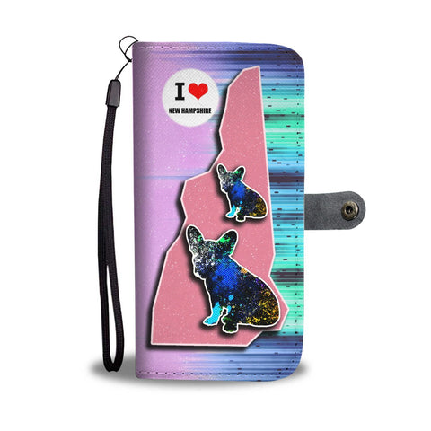 French Bulldog Art Print Wallet Case-Free Shipping-NH State