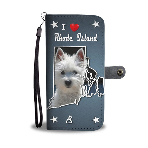 West Highland White Terrier Print Wallet Case-Free Shipping-RI State
