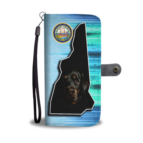 Rottweiler Dog Print Wallet Case-Free Shipping-NH State