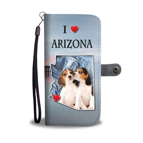 Lovely Beagle Dog Print Wallet Case- Free Shipping-AZ State