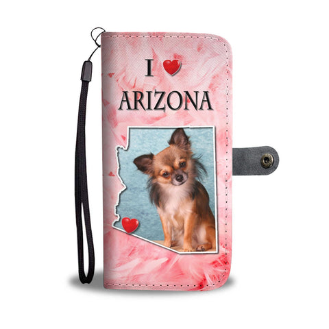 Lovely Chihuahua Print Wallet Case-Free Shipping-AZ State