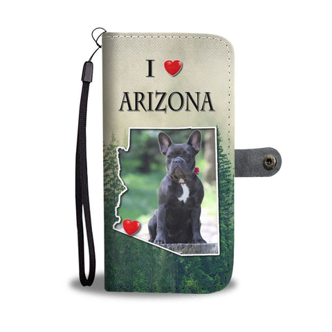 Cute French Bulldog Print Wallet Case-Free Shipping-AZ State