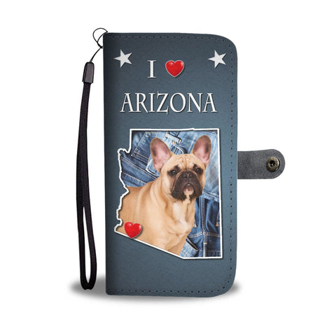 Lovely French Bulldog Print Wallet Case-Free Shipping-AZ State