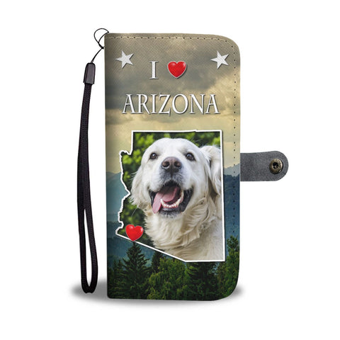 Lovely Golden Retriever Print Wallet Case-Free Shipping-AZ States