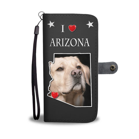 Cute Labrador Retriever Print Wallet Case-Free Shipping-AZ State