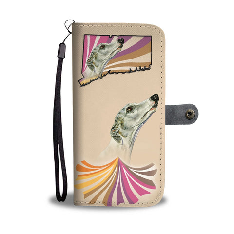 Amazing Whippet Dog Print Wallet Case-Free Shipping-CT State