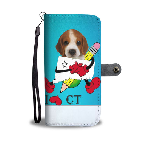 Awesome Beagle Print Wallet Case-Free Shipping-CT State
