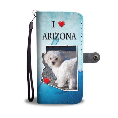 Lovely Maltese Dog Print Wallet Case-Free Shipping-AZ State
