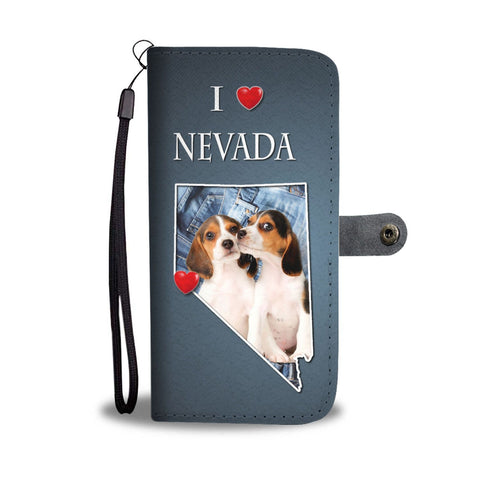 Cute Beagle Dog Print Wallet Case-Free Shipping-NV State