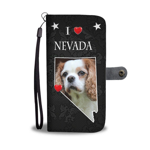 Cute Cavalier King Charles Spaniel Print Wallet Case-Free Shipping-NV State