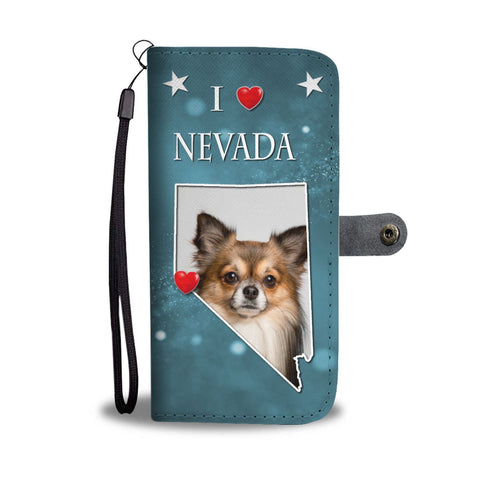 Cute Chihuahua Print Wallet Case-Free Shipping-NV State