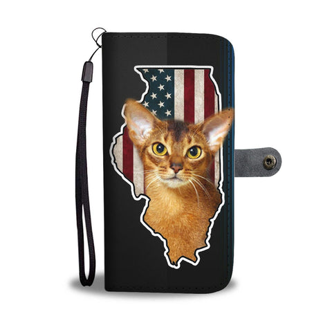Abyssinian cat Print Wallet Case-Free Shipping-IL State