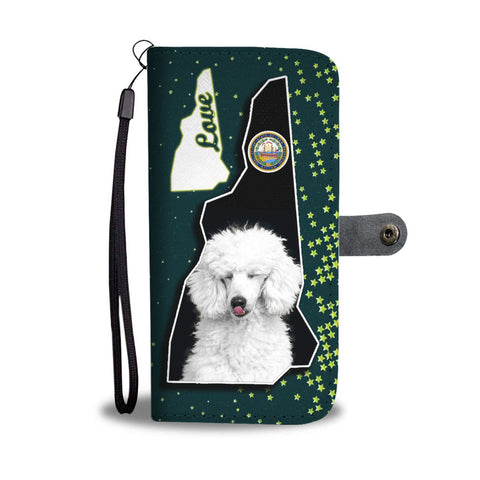 35e75a689411c Cute Poodle Dog Print Wallet Case-Free Shipping-NH State