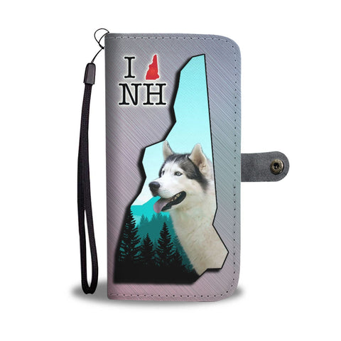 Siberian Husky Print Wallet Case-Free Shipping-NH State