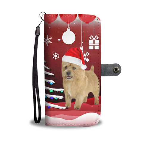 Norwich Terrier Christmas Print Wallet Case-Free Shipping
