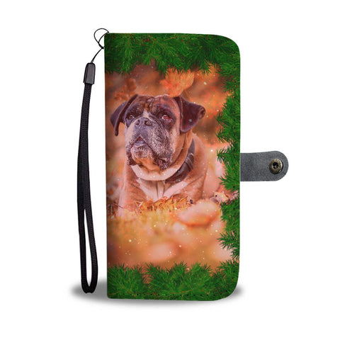 Boxer Dog Christmas Print Wallet Case-Free Shipping