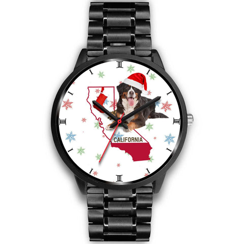 Bernese Mountain Dog California Christmas Special Wrist Watch-Free Shipping