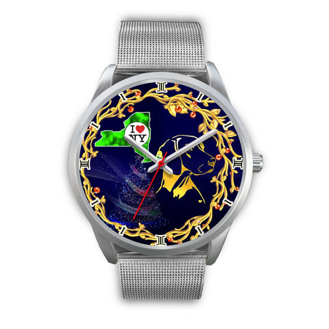 Amazing Vizsla Dog Golden Art New York Christmas Special Wrist Watch-Free Shipping