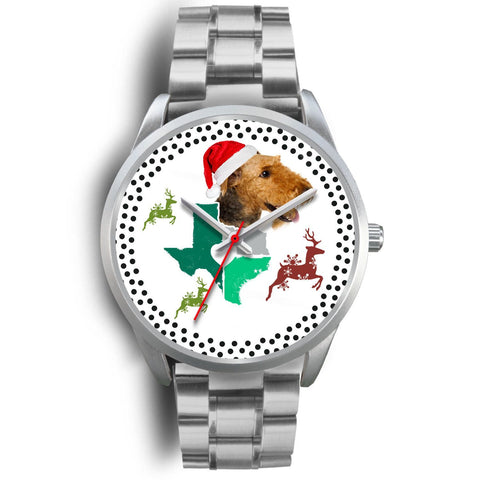 Airedale Terrier Texas Christmas Special Wrist Watch-Free Shipping