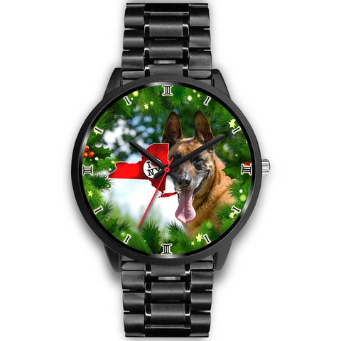 Belgian Malinois Dog New York Christmas Special Wrist Watch-Free Shipping