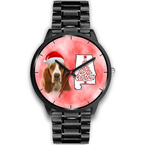 Basset Hound On Christmas Alabama Wrist Watch-Free Shipping