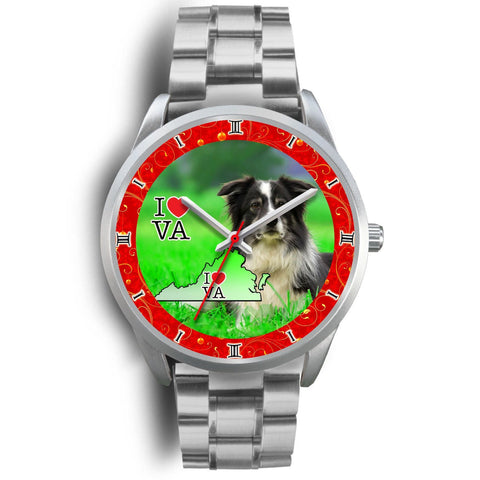 Lovely Border Collie Dog Virginia Christmas Special Wrist Watch-Free Shipping