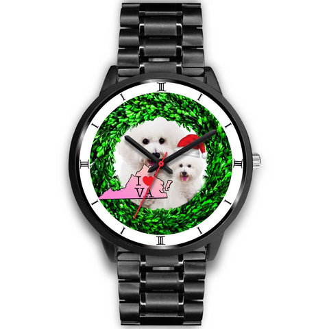 Bichon Fries Dog Virginia Christmas Special Wrist Watch-Free Shipping