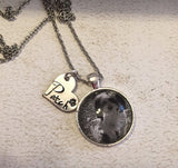 Dog necklace - Photo pendant w
