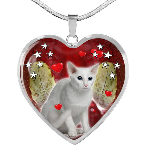 Oriental Shorthair Print Heart Pendant Luxury Necklace-Free Shipping