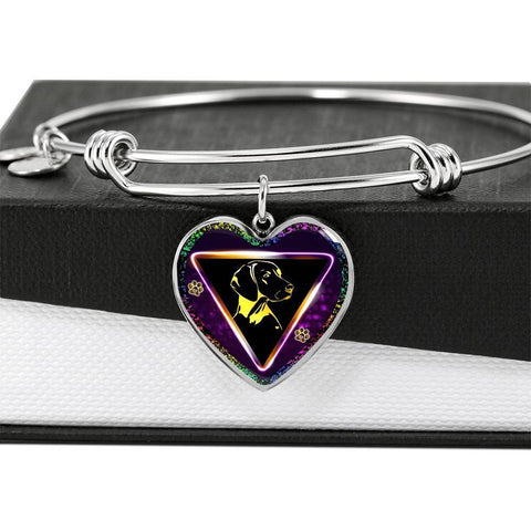 Vizsla Dog Art Print Heart Pendant Bangle-Free Shipping