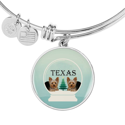 Yorkshire Terrier (Yorkie) Texas Print Bangle-Free Shipping